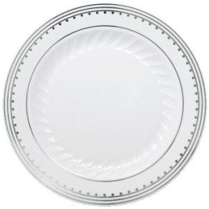 princess silver 712inch plastic plates