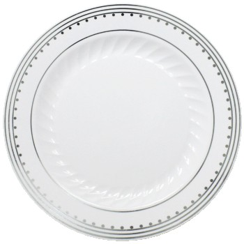 Princess Silver 7-1/2-inch Plastic Plates  sc 1 st  Party at Lewis & Princess Silver 7-1/2-inch Plastic Plates: The Simcha and Heritage ...