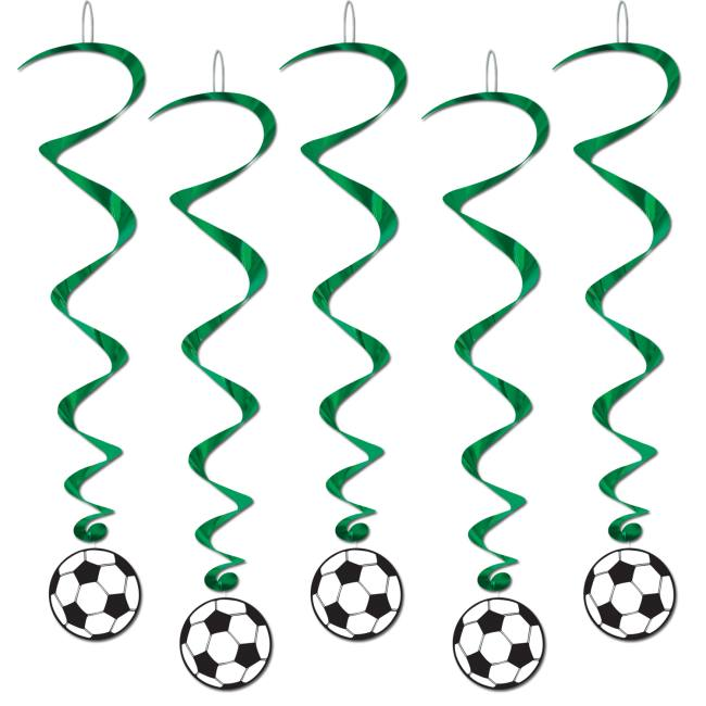Basketball Hanging Whirls 5 Pack Party Decorations