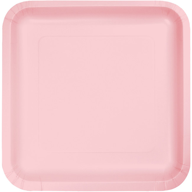 Pink 9-inch Square Deep Dish Paper Plates  sc 1 st  Party at Lewis & Pink 9-inch Square Deep Dish Paper Plates: Party at Lewis Elegant ...