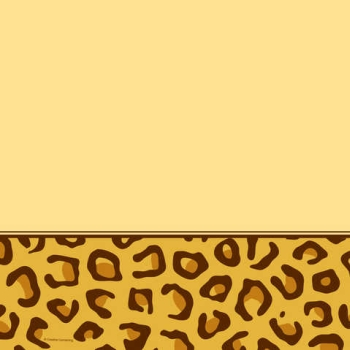 Animal Print Leopard Plastic Tablecloth