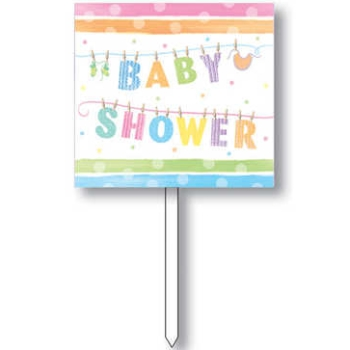 details about baby shower yard sign baby clothes