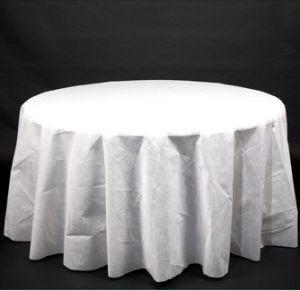Fabric Mate 96 Inch White Round Tablecloth