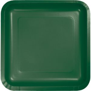 Hunter Green 9-inch Square Deep Dish Paper Plates  sc 1 st  Party at Lewis & Hunter Green Paper and Plastic Dinnerware Hunter Green paper ...