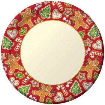 Gingerbread Treats 10.25-inch Plates  sc 1 st  Party at Lewis & Gingerbread Treats 10.25-inch Plates: Christmas Closeouts