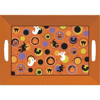 halloween plastic serving tray whandles