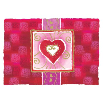 Seasonal Occasions Placemats Valentine: Printed Paper Placemats