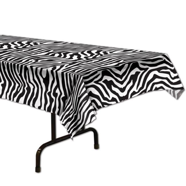 Zebra Print Plastic Tablecloth  sc 1 st  Party at Lewis & Zebra Print Plastic Tablecloth: Party at Lewis Elegant Party ...