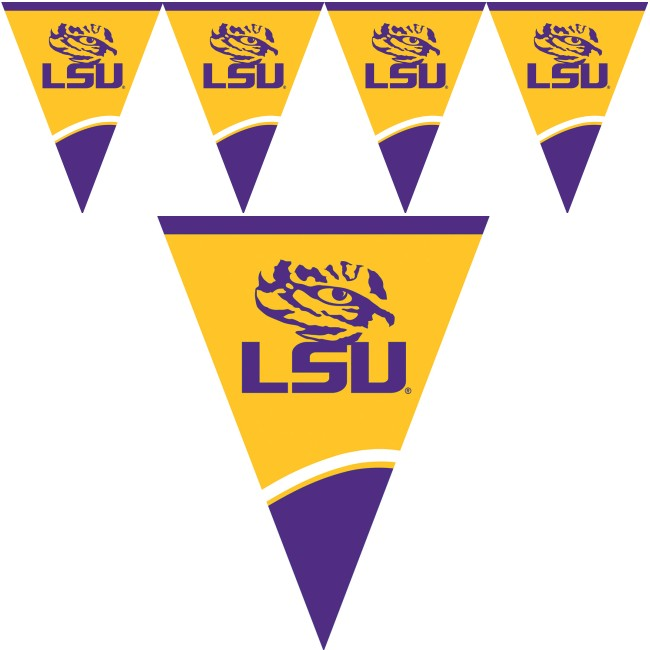 Lsu Tigers Flag Banner Party At Lewis Elegant Party Supplies