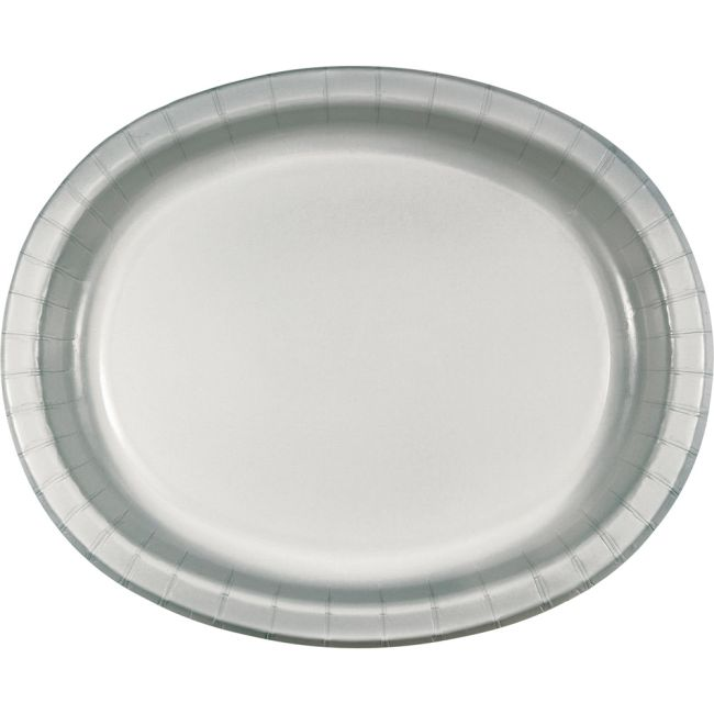 Silver Sturdy Style 12-inch Oval Paper Plates  sc 1 st  Party at Lewis & Silver Sturdy Style 12-inch Oval Paper Plates: Silver Paper and ...