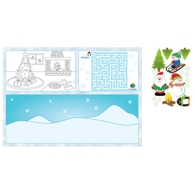 kids activity christmas placemats - Christmas Placemats And Napkins