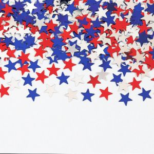 Red White And Blue Stars Border for Pinterest