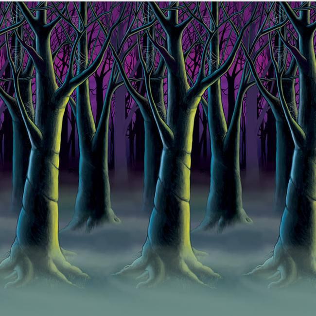 Spooky Forest Tree 30-foot Backdrop: Halloween Insta-Theme