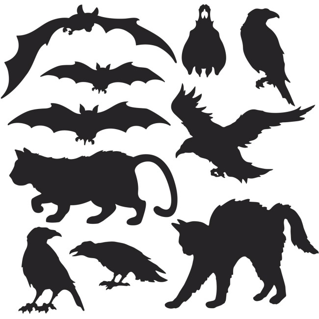 Halloween Silhouettes Cutouts: Party At Lewis Elegant