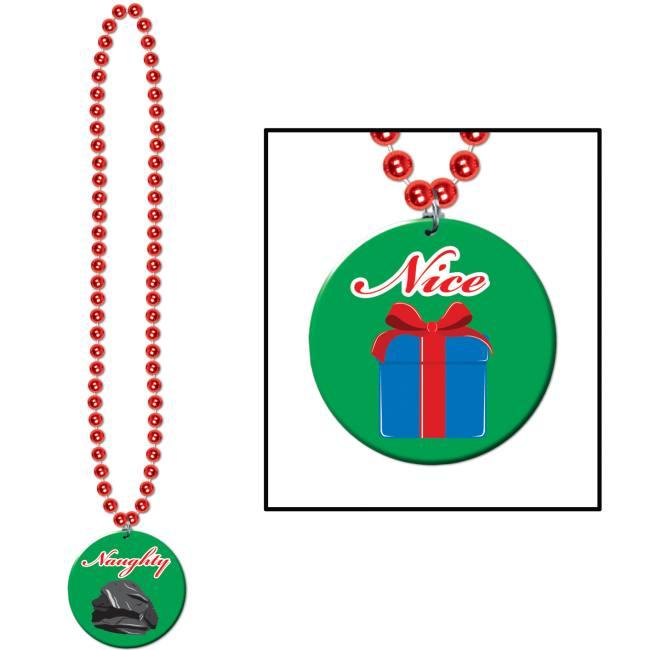 Beads W Or Nice Medallion