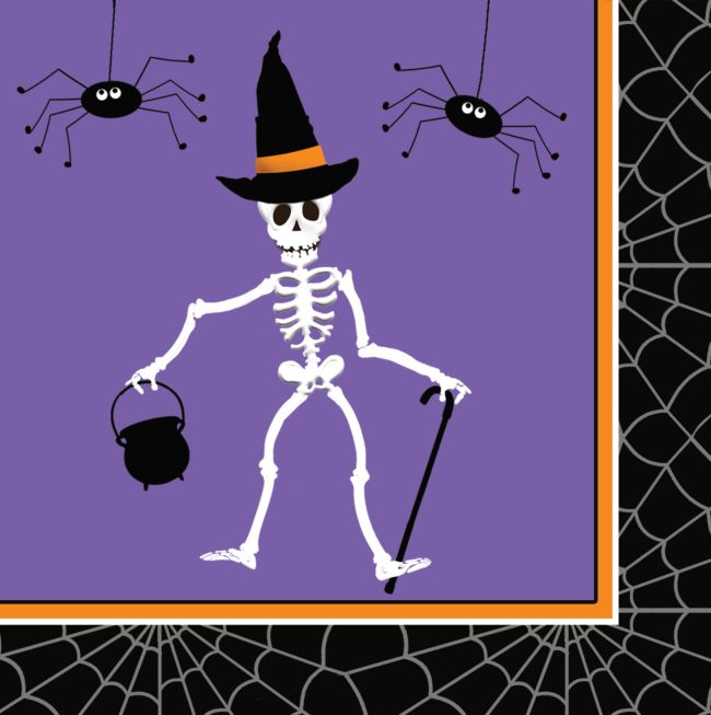 Halloween House of Fright Lunch Napkins 18 pack