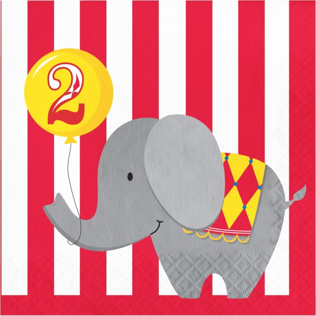 Circus Elephant Lunch Plates