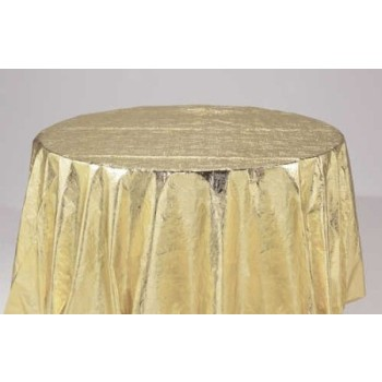 metallic gold round table cover