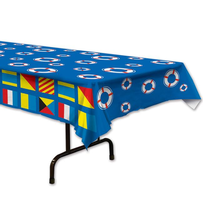 Nautical Plastic Tablecloth  sc 1 st  Party at Lewis & Nautical Plastic Tablecloth: Party at Lewis Elegant Party Supplies ...