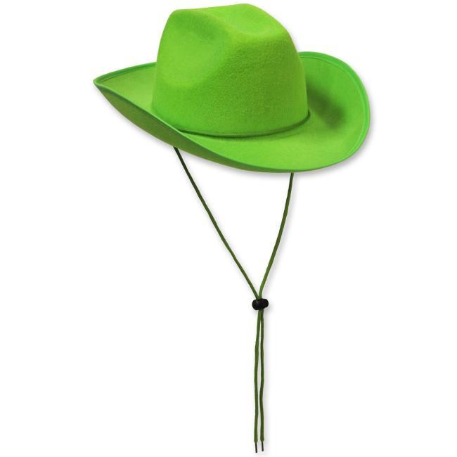 6932f2dab1b Felt Cowboy Hat Lime Green  Party at Lewis Elegant Party Supplies ...
