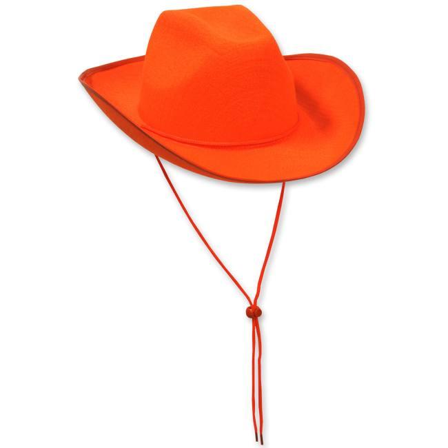 Felt Cowboy Hat Orange  Party at Lewis Elegant Party Supplies ... 7d84c112c777