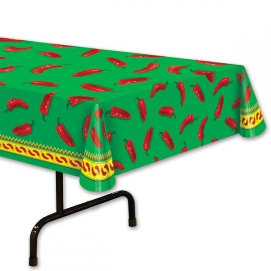 Chili Pepper Plastic Tablecloth