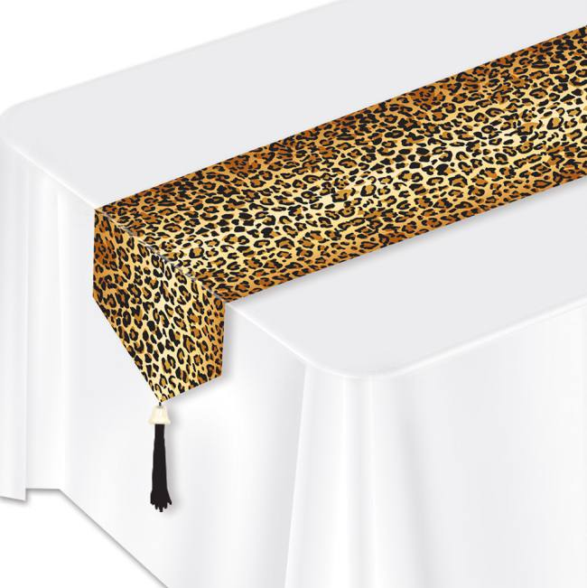 Leopard Print Lamenated Paper Table Runner: Party at Lewis Elegant ...
