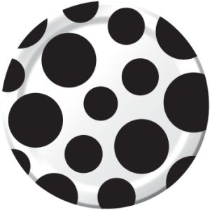 Chevron \u0026 Dots Black 7-inch Paper Plates  sc 1 st  Party at Lewis & Chevron and Dots Black - Party at Lewis Elegant Party Supplies ...