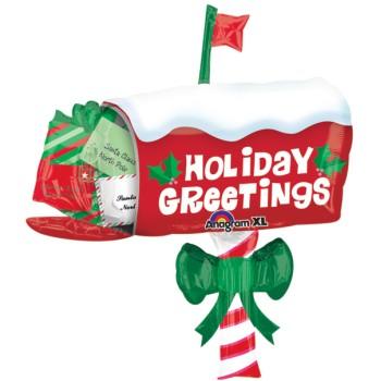 Christmas Mailbox.Christmas Mailbox 32 Inch Foil Balloon