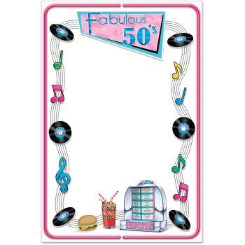 "Size: 21.75"" x 13.5"" Theme: Fabulous 1950's Party Supplies ..."