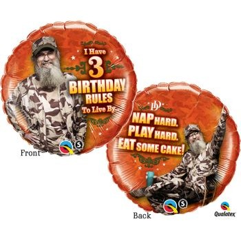 Duck Dynasty Birthday Rules Foil Balloon: Party at Lewis Elegant Party Supplies, Plastic Dinnerware, Paper Plates and Napkins