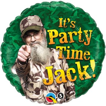 Duck Dynasty It's Party Time Jack! Foil Balloon: Party at Lewis Elegant Party Supplies, Plastic Dinnerware, Paper Plates and Napkins