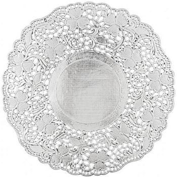 Silver Paper Doilies 8 5 Inch