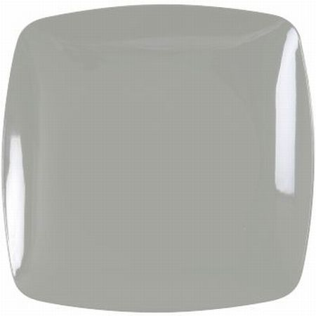 Renaissance Rounded Silver Square Plastic Plates 10-inch: Party at ...