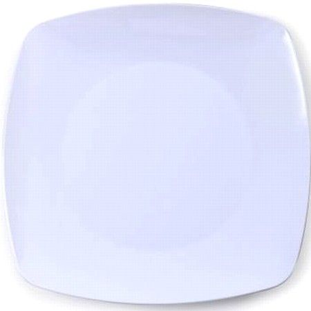 Renaissance Rounded White Square Plastic Plates 7.5-inch & Renaissance Rounded White Square Plastic Plates 7.5-inch ...