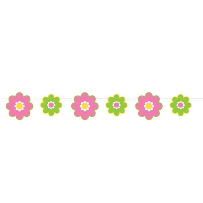 Paper Flowers Ribbon Banner Party At Lewis Elegant Party Supplies