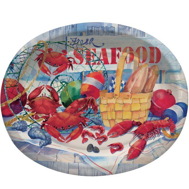 seafood celebration 12 inch oval plates sea food celebration