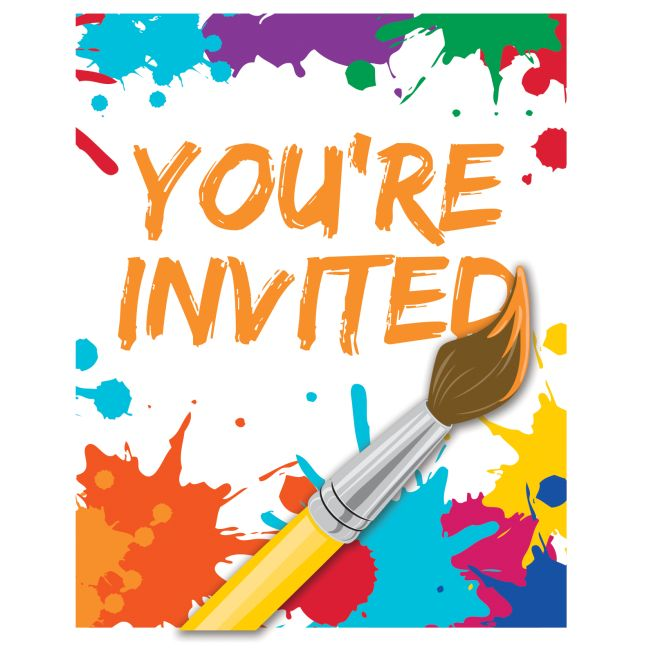 art party paint party invitations party at lewis elegant party
