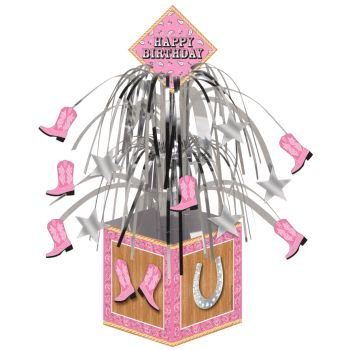 Pink Bandana Cowgirl Foil Happy Birthday Centerpiece  Party at Lewis  Elegant Party Supplies ff7ecfc42330