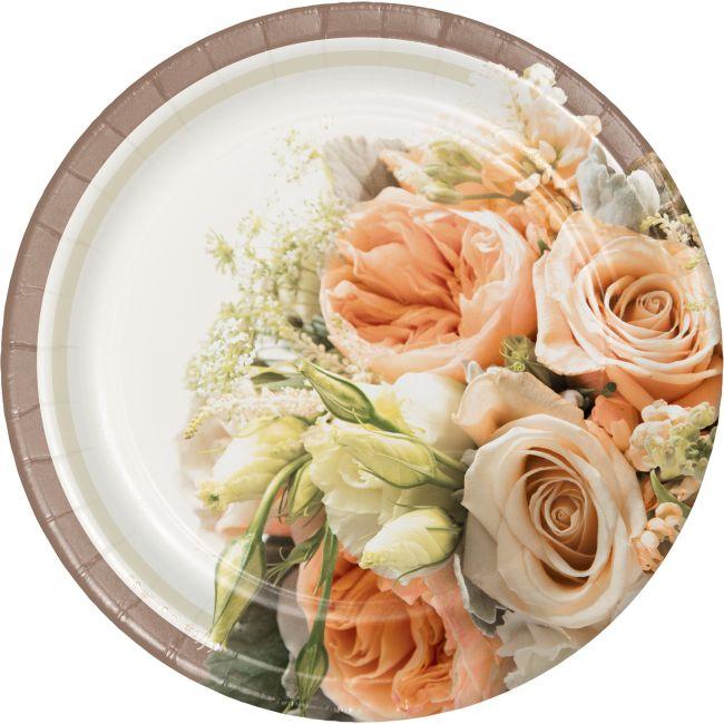 Rose Gold Plastic Tableware
