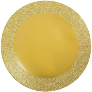 round gold glitter border 14inch paper placemats