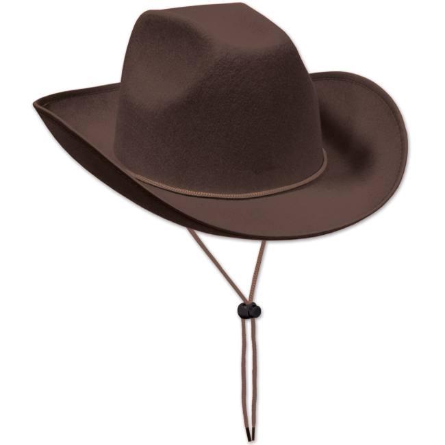Brown Felt Cowboy Hat  Party at Lewis Elegant Party Supplies ... 52788e5344d5