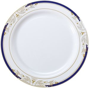 signature blu plastic salad plates 75inch