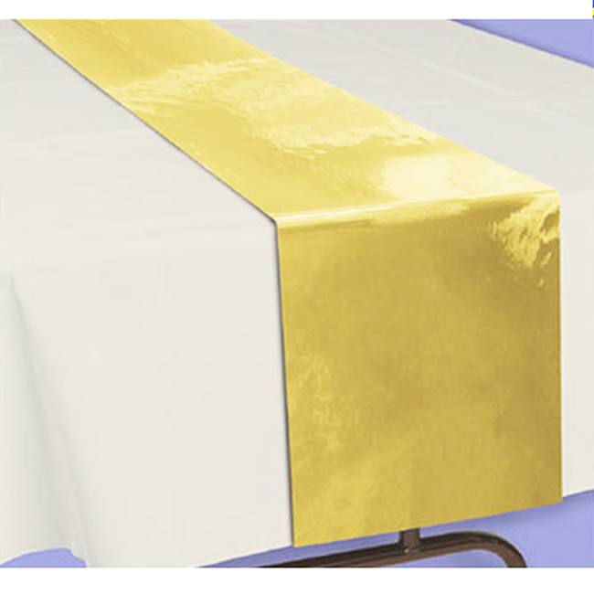 Gold Metallic Table Runner 20 Foot Roll Party At Lewis