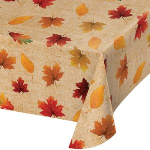Fall Leaves Vinyl Tablecloth