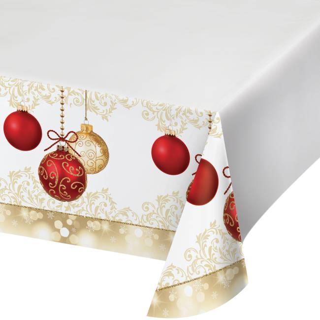 Opulent Ornaments Plastic Tablecloth: Party At Lewis