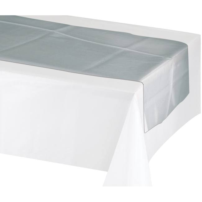 Silver Non Woven Fabric Table Runner