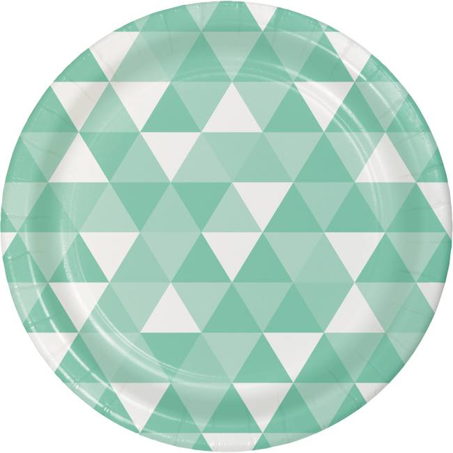 Fractal Fresh Mint Green 7-inch Paper Plates  sc 1 st  Party at Lewis & Fractal Fresh Mint Green 7-inch Paper Plates: Fresh Mint Green ...