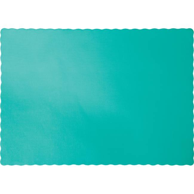 Teal Lagoon Paper Placemats Solid Color Paper Placemats