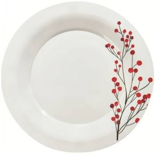Milan 7.25-inch Holiday Winter Berries Plastic Plates  sc 1 th 225 & Milan 7.25-inch Holiday Winter Berries Plastic Plates: Holiday ...